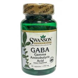 Gaba 250mg Kwas Gamma Aminomasłowy (60kaps) SWANSON
