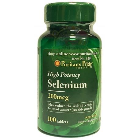 Selen 200mcg (100tab) Selenium PURITAN'S PRIDE