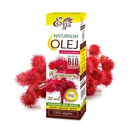 Olej Rycynowy Naturalny 100% Bio 50ml ETJA