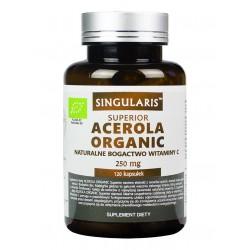Acerola Organic 250 mg (120 kaps) Witamina C Singularis