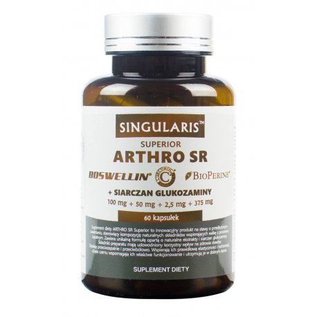 ARTHRO SR (60kaps) Boswellin Curcumin BioPerine SINGULARIS