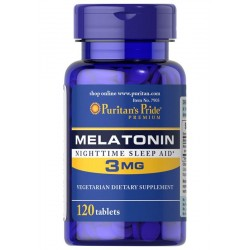 Melatonina 3 mg (120 tab) Puritan's Pride