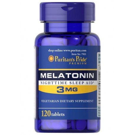 Melatonina 3mg (120tab) PURITANS PRIDE
