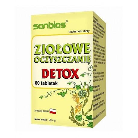 Ziołowe Oczyszczanie (60tab) DETOX SANBIOS