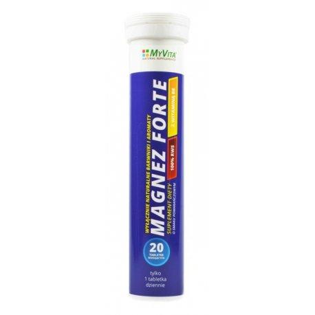 Magnez Forte + Wit. B6 (20tab) Musujących MYVITA