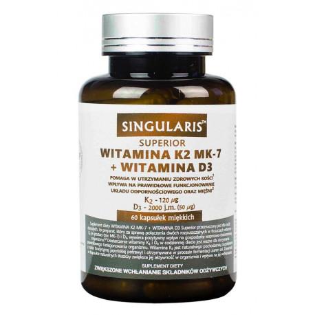 Witamina K2 MK-7 + D3 Superior (60kaps) SINGULARIS