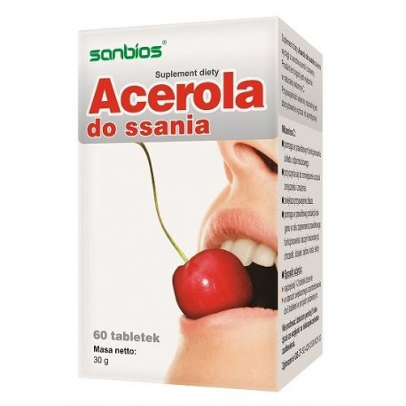 Acerola Do Ssania 500mg Naturalna Witamina C (60tab) SANBIOS