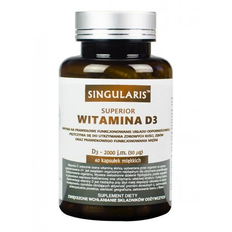 Witamina D3 Superior 2000IU (60kaps) SINGULARIS