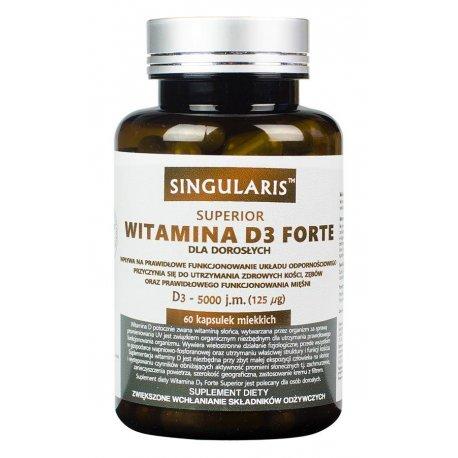 Witamina D3 FORTE 5000IU (60kaps) SINGULARIS
