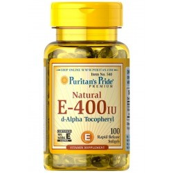 Witamina E-400 IU Naturalna (100tab) PURITANS PRIDE