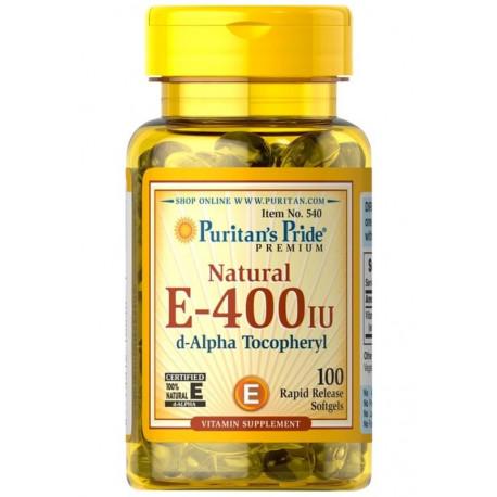 Witamina E-400 IU Naturalna (100kaps) PURITAN'S PRIDE
