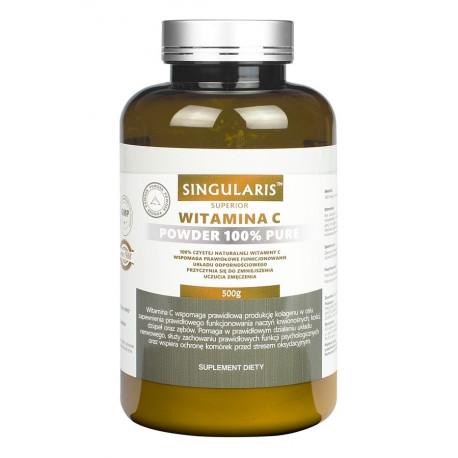 Witamina C 100% Czysta 500g Kwas L-Askorbinowy SINGULARIS