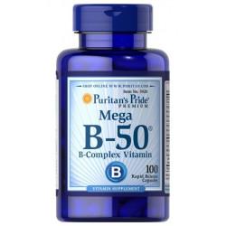 Witamina B-50 MEGA Complex (100tab) B50 PURITAN'S PRIDE