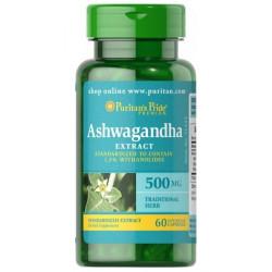Ashwagandha 500mg (60kaps) Stres PURITANS PRIDE