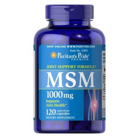MSM 1000 mg (120 kaps) Metylosulfonylometan Siarka Organiczna Puritan's Pride