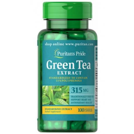 Zielona Herbata Ekstrakt 315mg (100kaps) PURITAN'S PRIDE