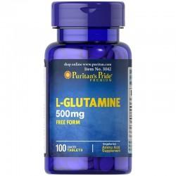 L-Glutamine 500mg (100tab) Regeneracja mięśni PURITANS PRIDE