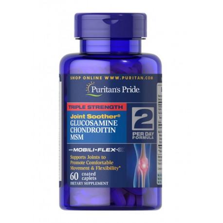 Glukozamina Chondroityna MSM  (60tab)  PURITANS PRIDE