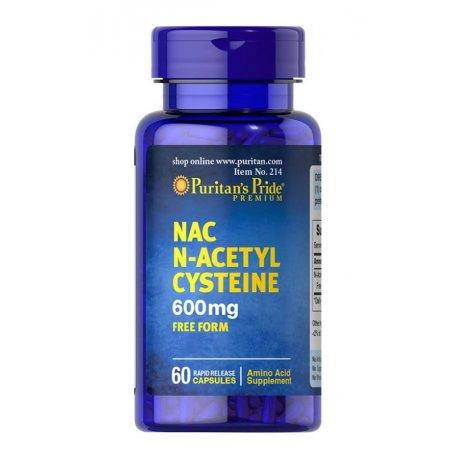 NAC N-Acetyl Cysteine 600mg (60kaps) PURITANS PRIDE