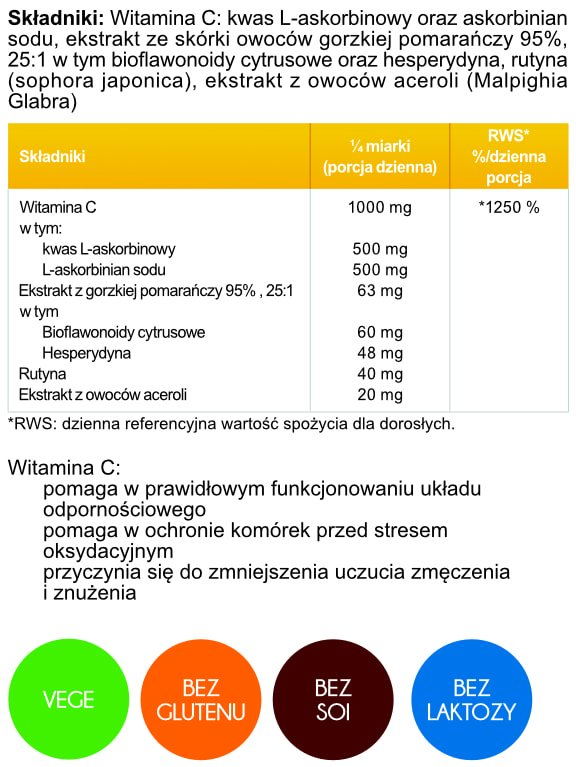 Witamina C PLUS 250g Aliness