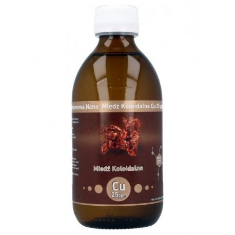 Niejonowa Nano Miedź Koloidalna Cu 25ppm 300ml Vitacolloids