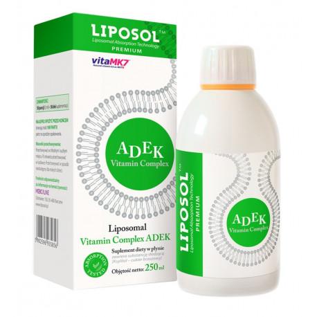 Witaminy A D E K Complex Liposomalne 250ml LIPOSOL ALINESS