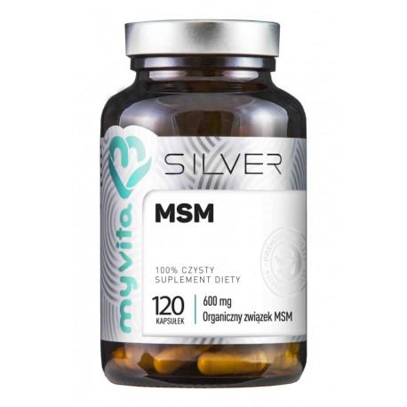 MSM Metylosulfonylometan Siarka organiczna 600mg (120kaps) SILVER MYVITA