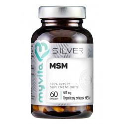 MSM Metylosulfonylometan Siarka organiczna 600 mg (60 kaps) Silver Myvita