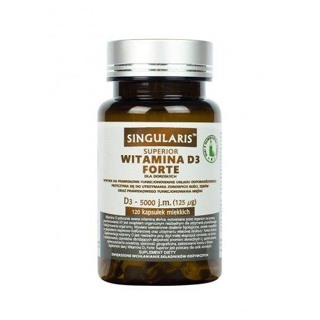 Witamina D3 FORTE 5000IU (120kaps) SINGULARIS