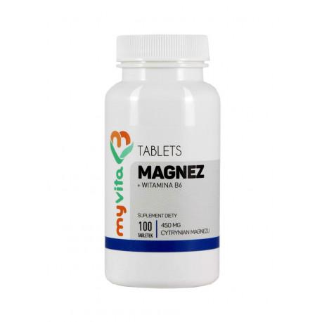 Magnez i Witamina B6 (100tab) Cytrynian Magnezu MYVITA