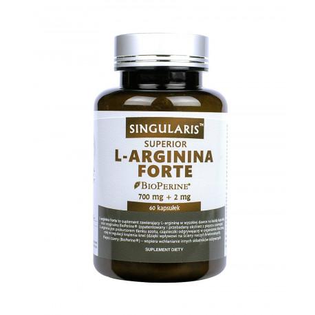 L-Arginina Forte Piperyna Superior (60kaps) SINGULARIS