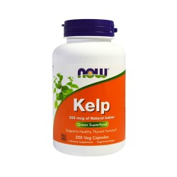Kelp 325mcg (250kaps) Naturalny Jod NOW FOODS