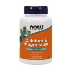 CAL-MAG Wapń i Magnez 2:1 Calcium & Magnesium  (100tab) NOW FOODS