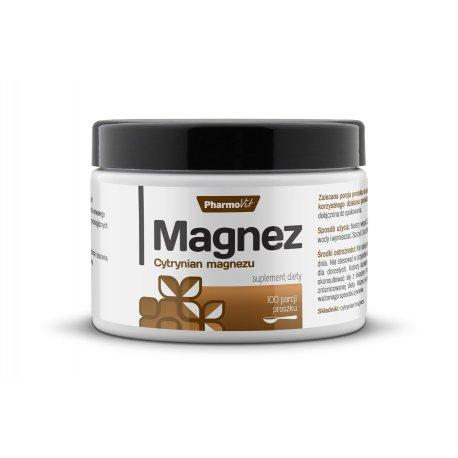 MAGNEZ Cytrynian Magnezu Proszek (250g) PHARMOVIT