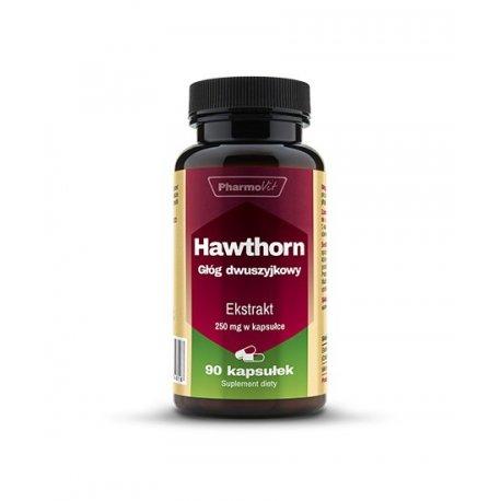 Hawthorn Głóg Dwuszyjkowy Owoce Ekstrakt 4:1 250mg (90kaps) PHARMOVIT