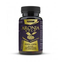 ARONIA GOLD Ekstrakt z Aronii Czarnej Standaryzowany 25% Antocyjanów 200mg (60kaps) PHARMOVIT