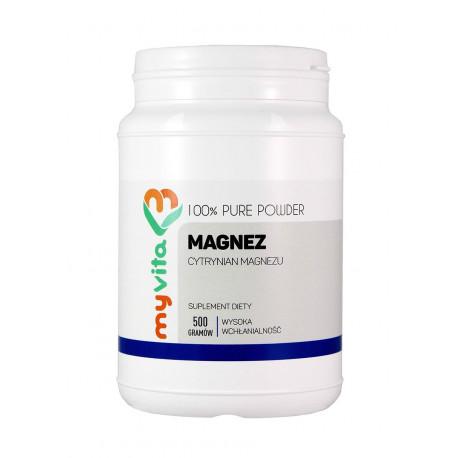 Cytrynian Magnezu Proszek 500g Magnez MyVita