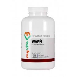 Cytrynian Wapnia 100% Czysty Proszek 250 g Wapń Myvita