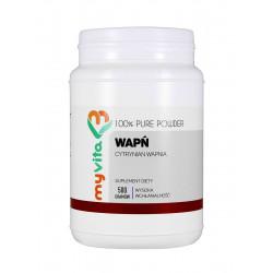 Cytrynian Wapnia 100% Czysty Proszek 500 g Wapń MyVita