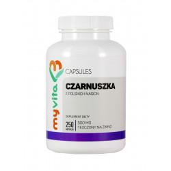 Czarnuszka 500 mg (250 kaps) Polski olej z nasion Myvita
