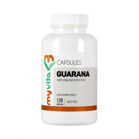 Guarana 400mg 120 kapsułek Zdrowa Kofeina MyVita