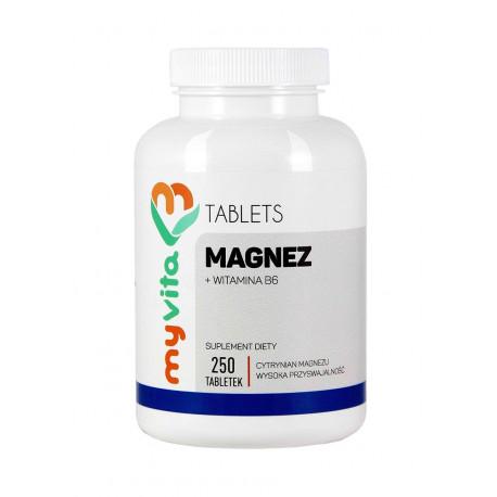Magnez i Witamina B6 (250tab) Cytrynian Magnezu MyVita