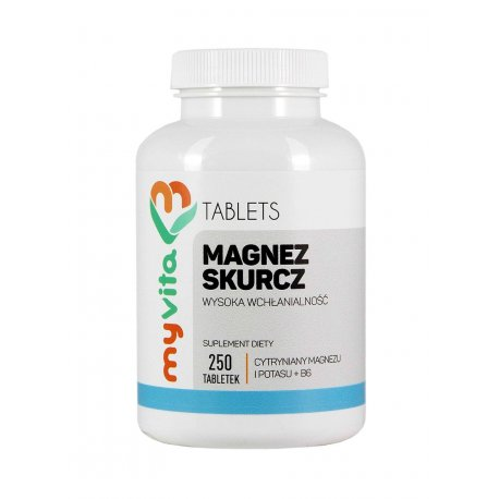 Magnez Skurcz + Potas + Witamina B6 250tab MYVITA