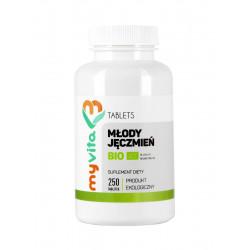 Młody Jęczmień BIO 500mg 250 tabletek z Niemiec MyVita