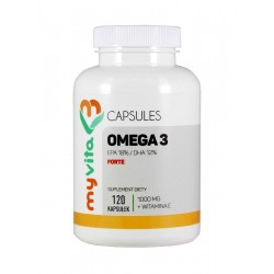 Omega 3 Forte 1000mg EPA DHA + Witamina E (120kaps) MYVITA
