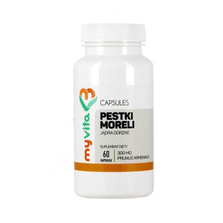 Pestki Moreli 300 mg (60 kaps) Myvita