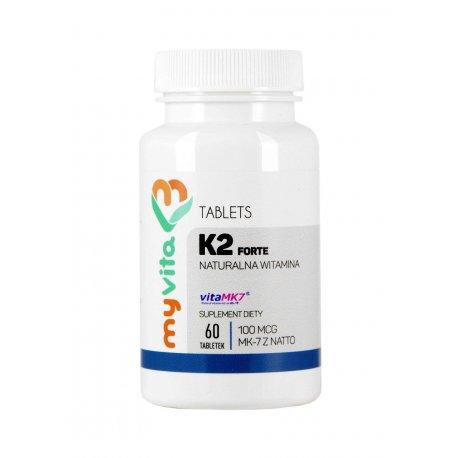 Witamina K2 MK-7 z Natto 100mcg Forte (60tab) MyVita