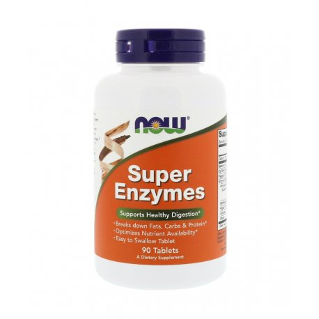Super Enzymes Enzymy Trawienne (90tab) Now Foods