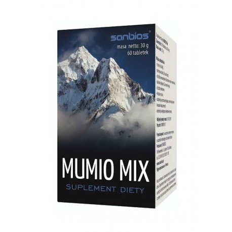 MUMIO MIX (60tab) Pokrzywa Kurkuma Drożdże Cynk Selen SANBIOS