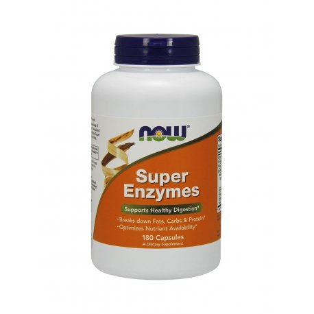 Super Enzymes Enzymy Trawienne (180kaps) Now Foods